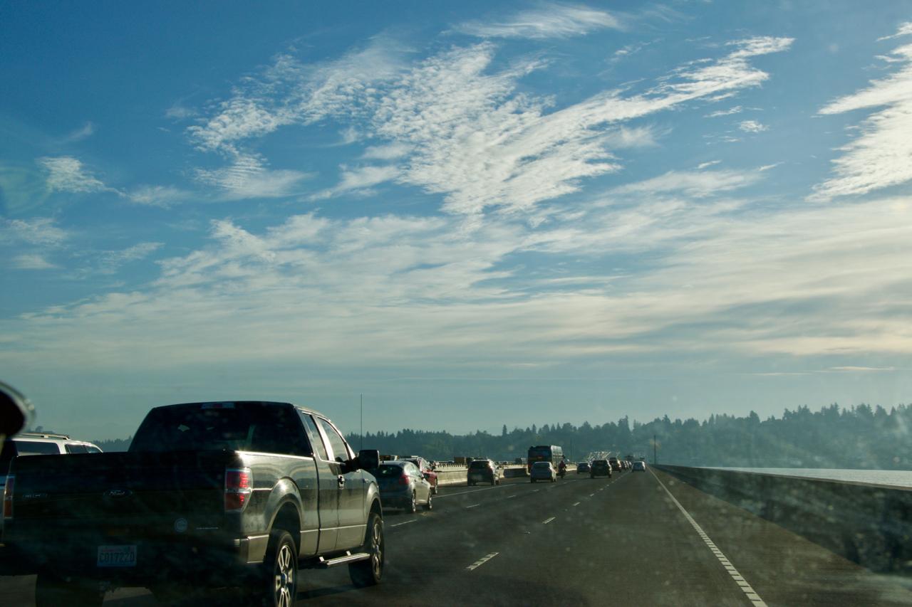 Droga do centrum Seattle / Heading to Seattle