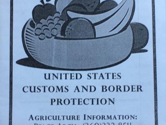 Ulotka pouczająca o wwożeniu produktów rolnych z Kanady do USA>