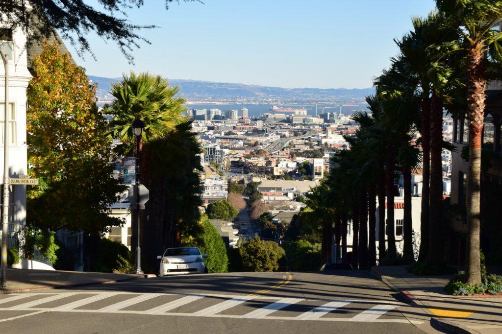 Widok na San Francisco z dzielnicy Castro