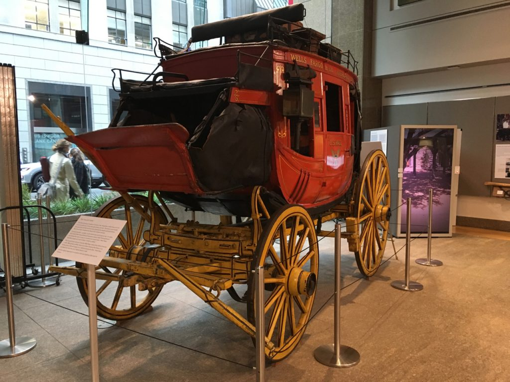 Powóz w muzeum banku Wells Fargo