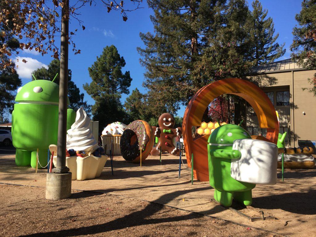 Androidy na kampusie Google