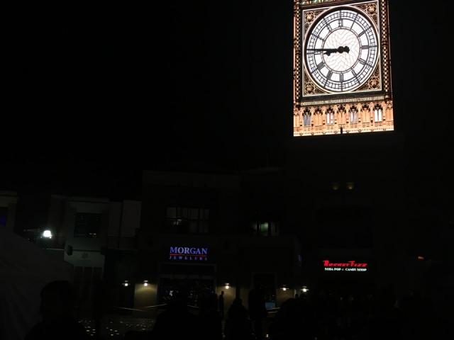 Sylwester czas zacząć - zegar w centrum Salt Lake City